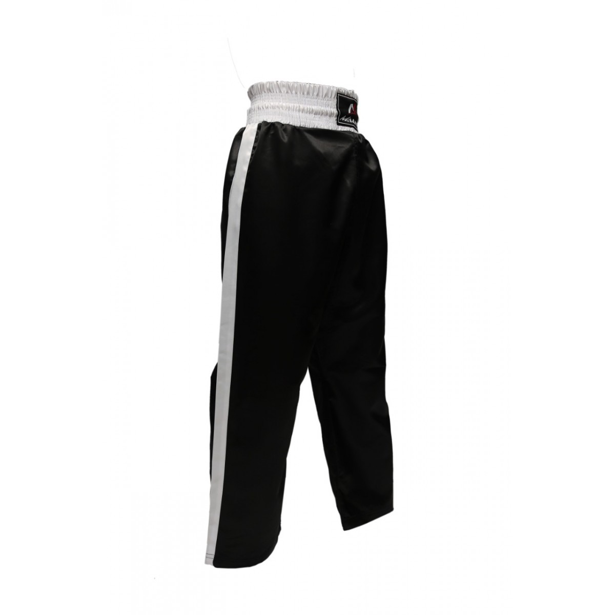 Malino Shine Kickboxing Trouser Mix Martial Arts Training Silk Satin Trouser Black White
