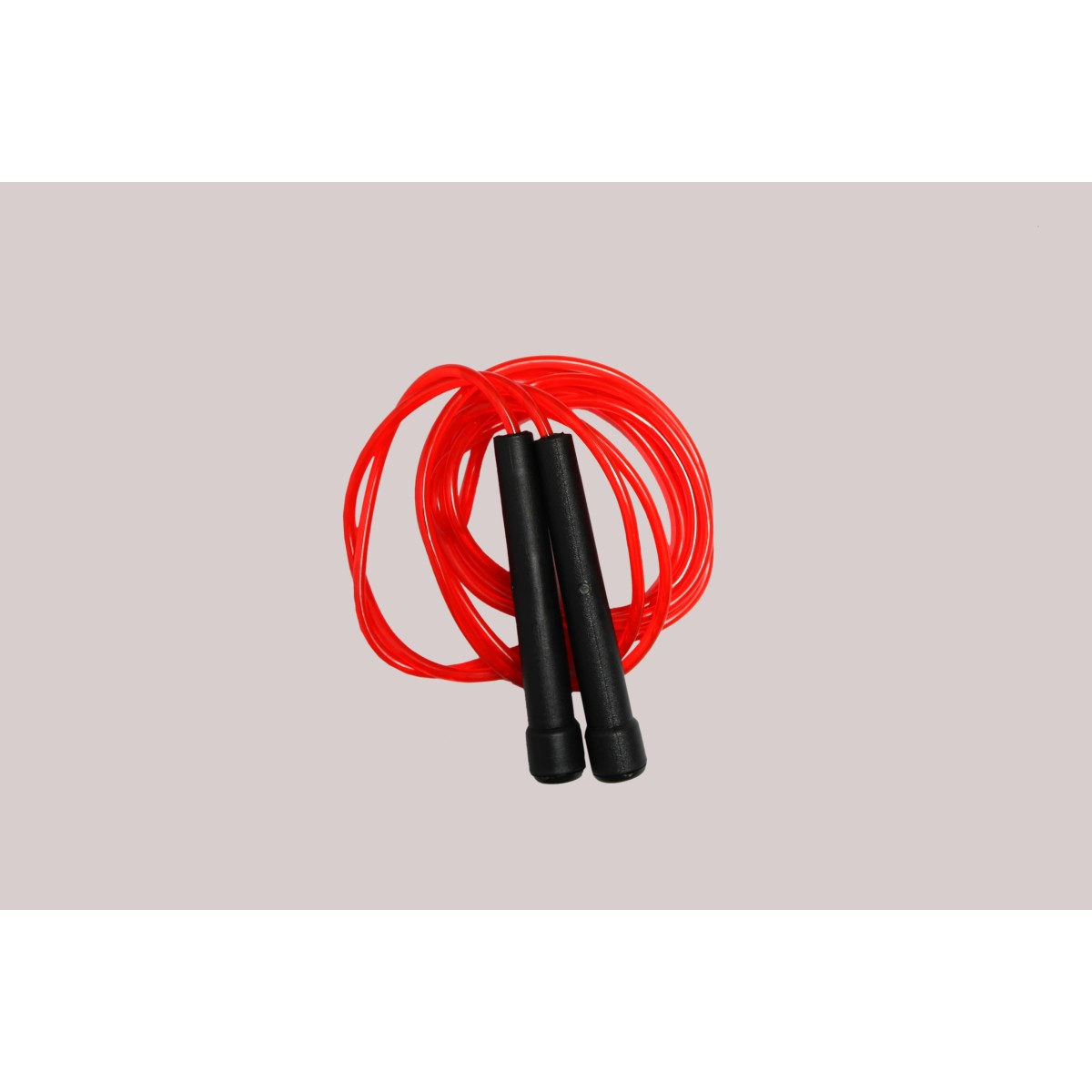 Malino Premium Light Skipping Rope Red with Black Handle