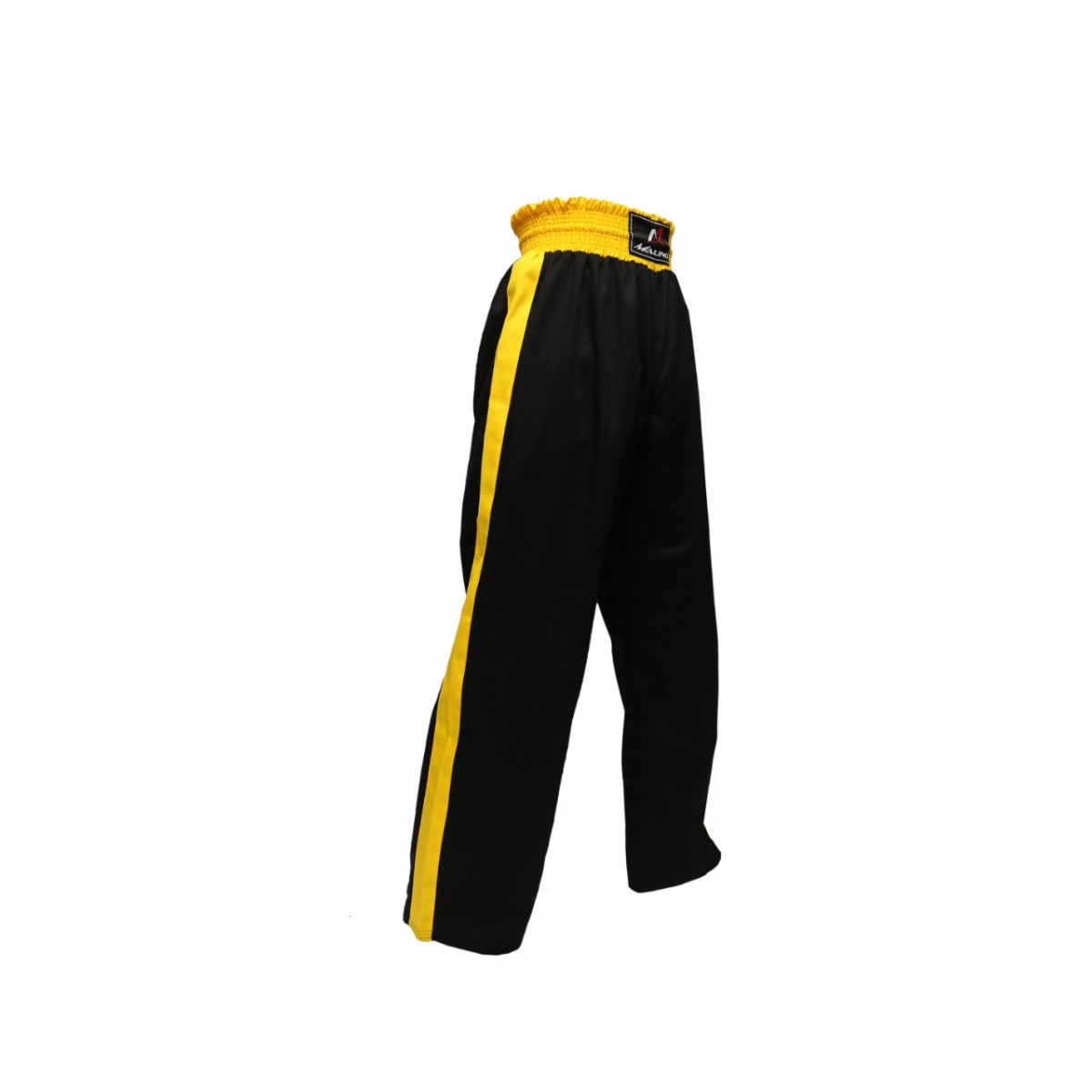 Malino Star Kickboxing Trouser Mix Martial Arts Training Poly Cotton Trouser Black Yellow