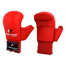MALINO WKF RED KARATE MITT WITH THUMB