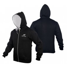 Malino Athletic Zip Up Hoodie Black