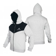 Malino Athletic Zip Up Hoodie Grey Black