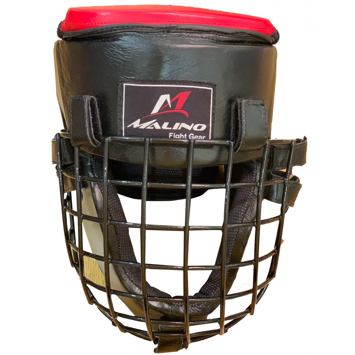 Malino Premium Cowhide Leather Head Guard with Grill