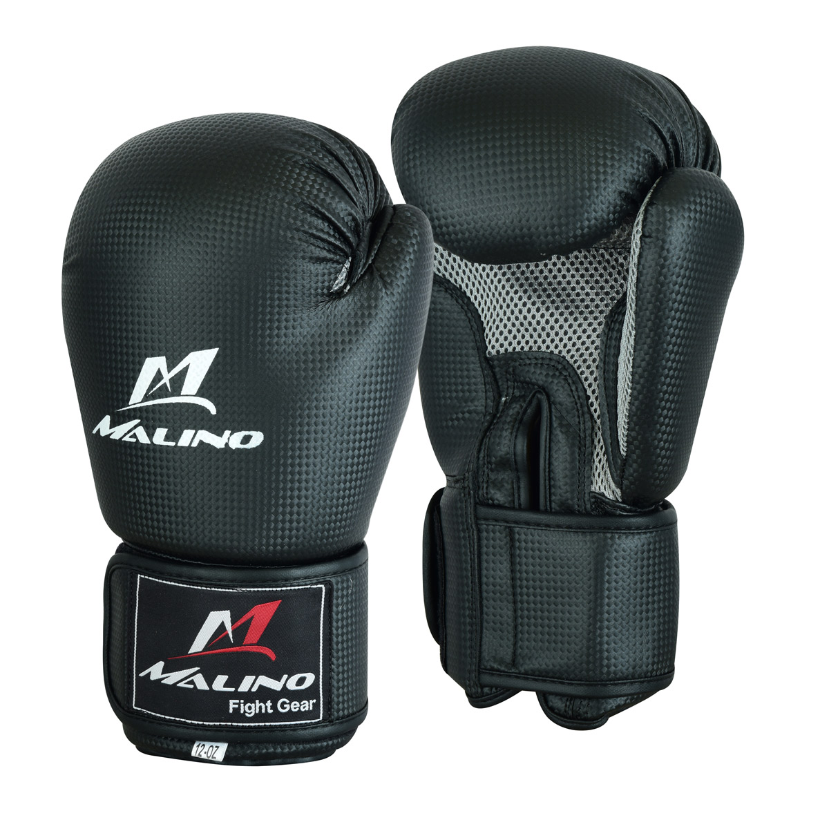 Leather Boxing Gloves for Men Carbon Black