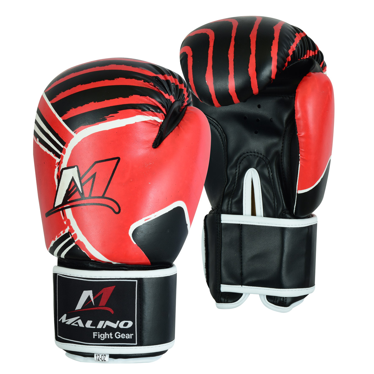 Boxing Gloves for Men Black-Red-White