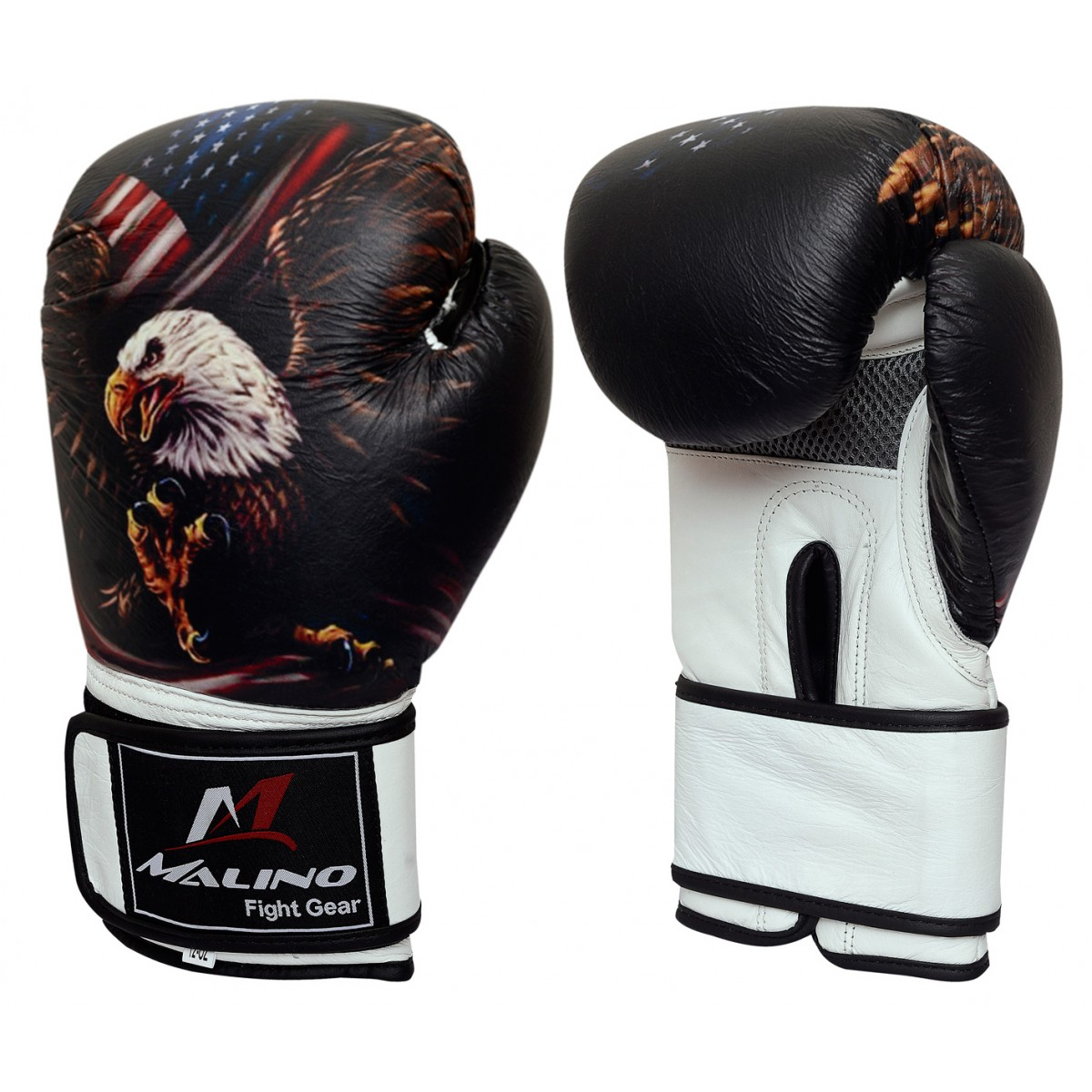 Boxing Gloves Eagle Printed Black-White