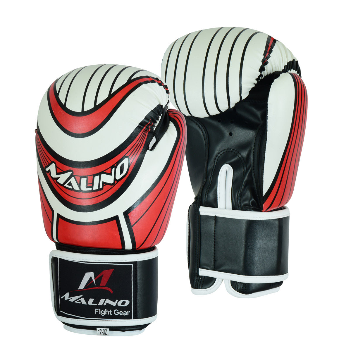 Boxing Gloves for Men White-Black-Red