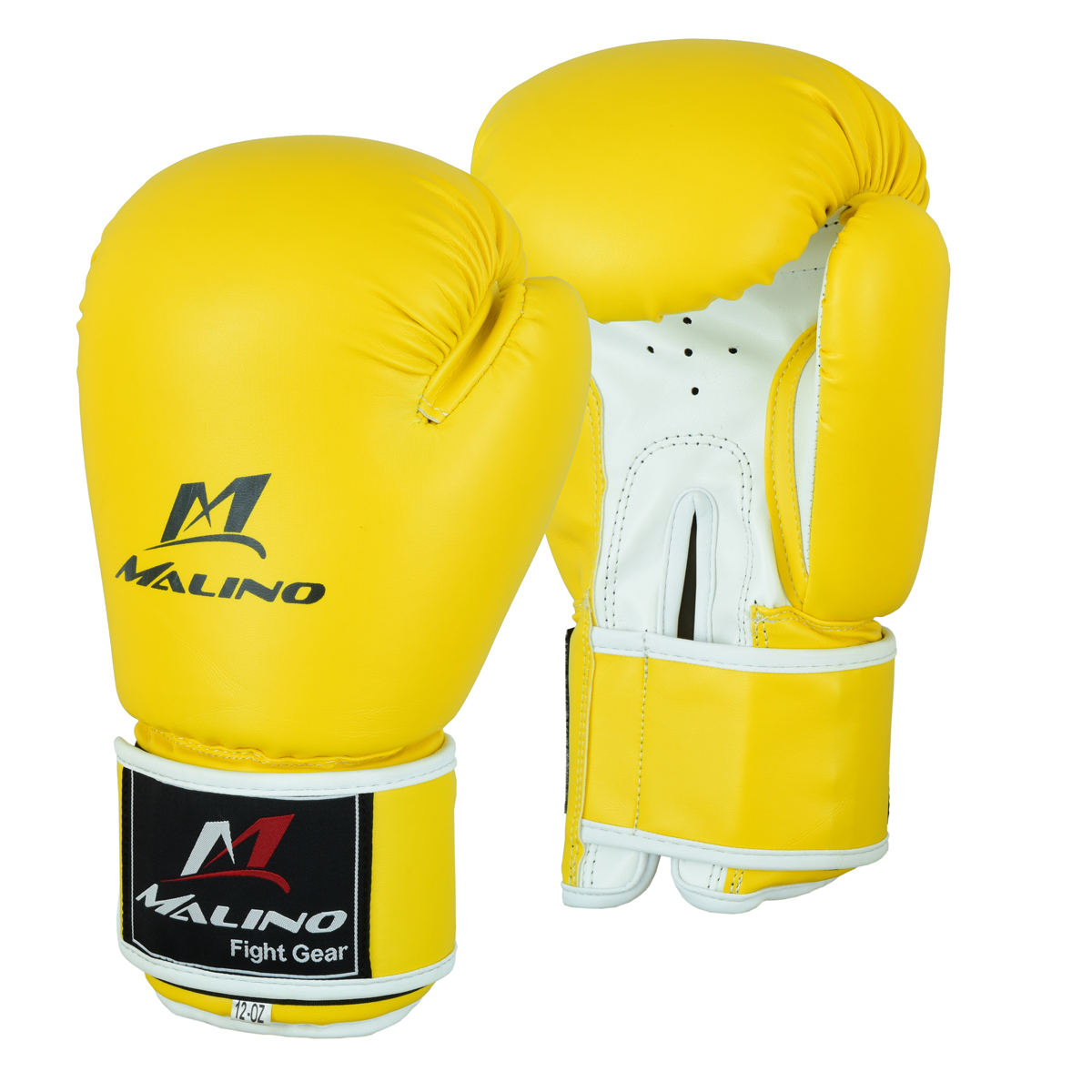 Boxing Gloves for Men Yellow-White