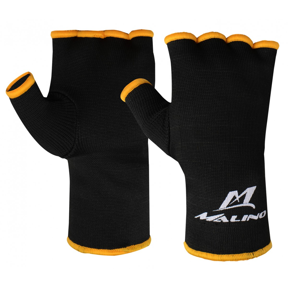 Malino Inner Hand Gloves with Thumbs Black-Orange