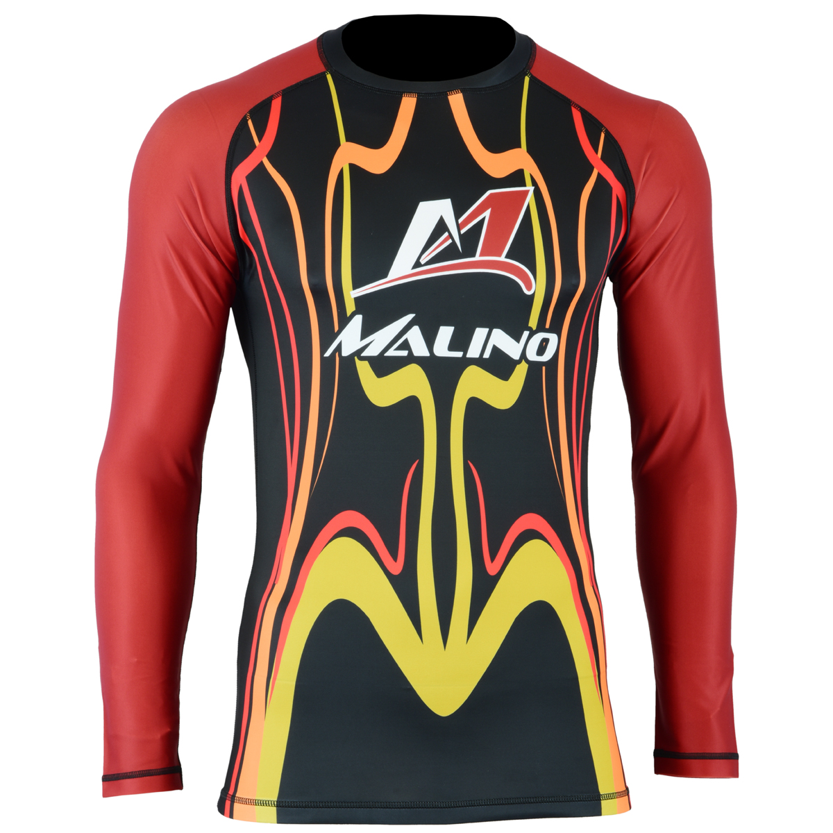 Rash Guard Unisex Red-Yellow-Black