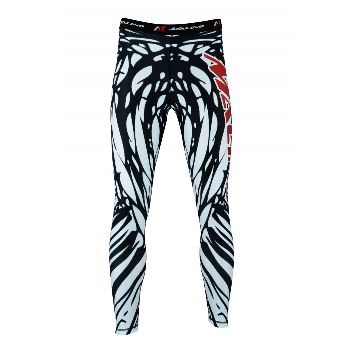 Rash Guard Pants, Sports Tights, Leggings White-Black