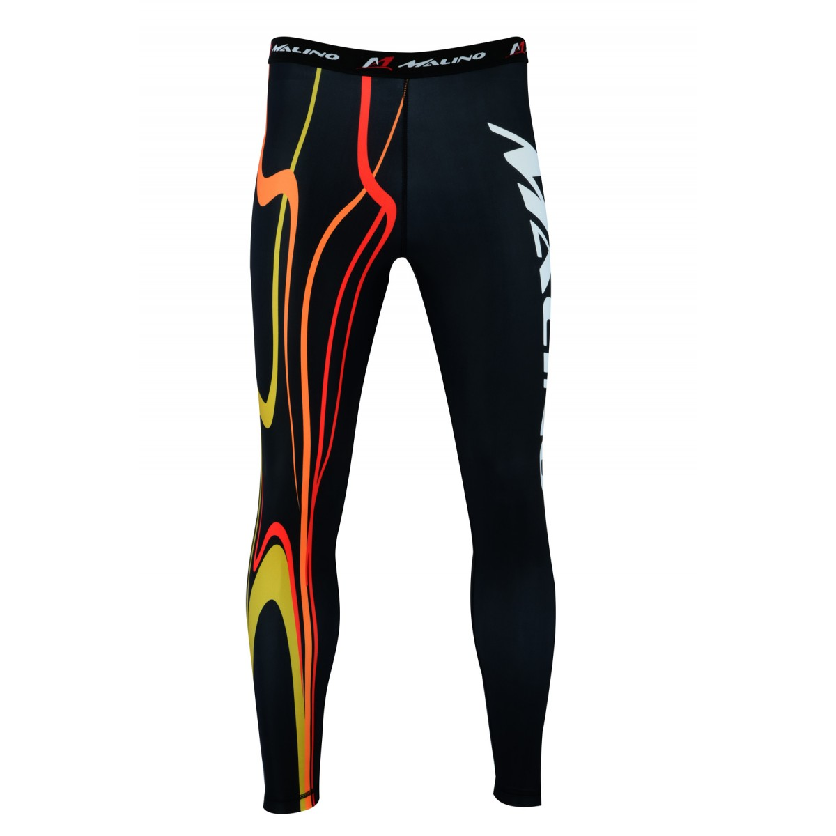 Rash Guard Pants, Sports Tights, Leggings Red-Yellow-Black