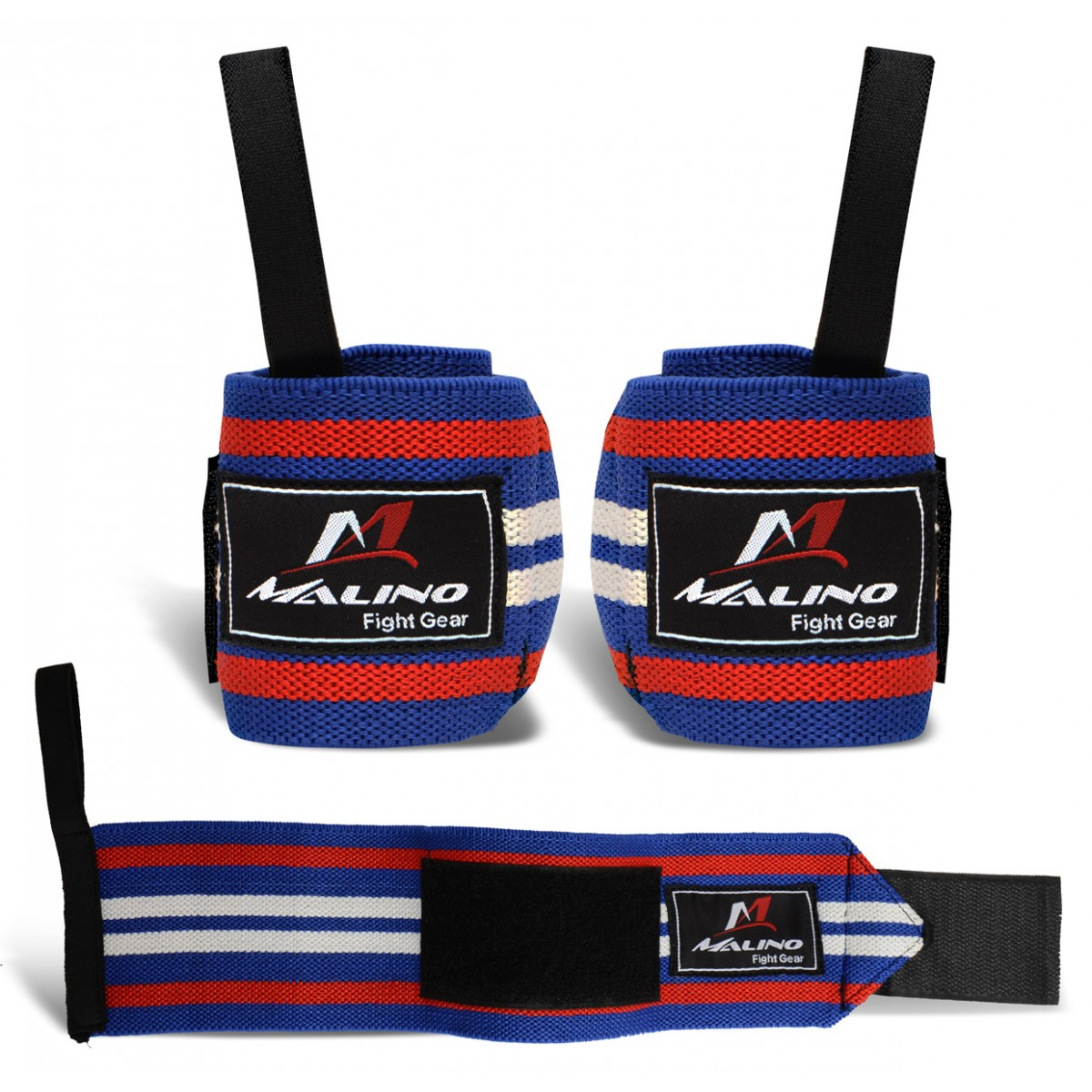 Professional Hand Wraps Boxing Tapes Blue-Red-White