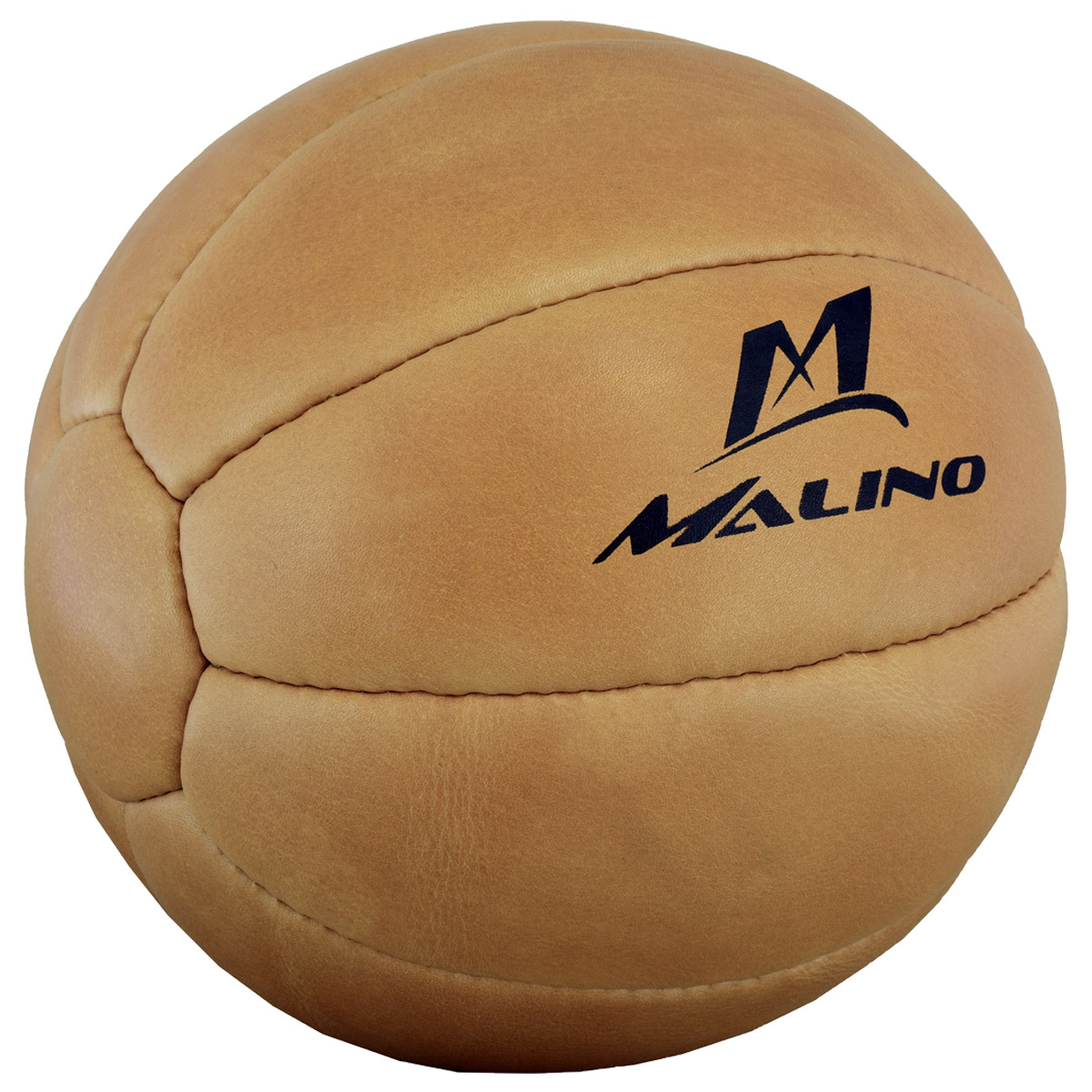 Malino Professional Leather Medicine Ball Brown