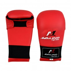 Malino Red Karate Semi-Mitt Without Thumb