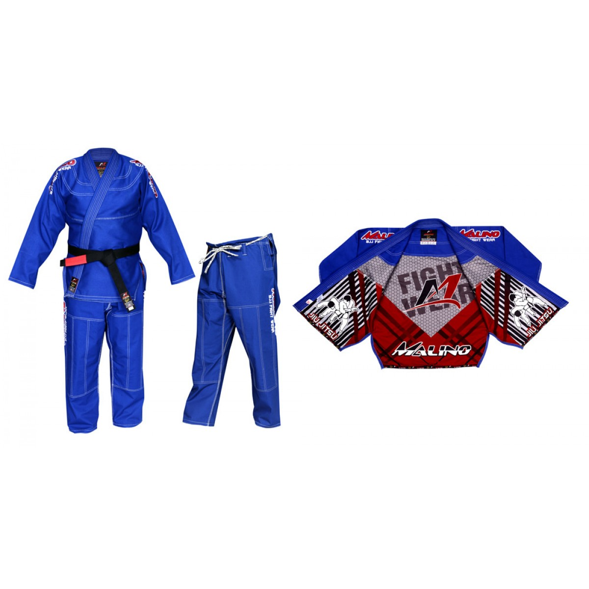 Malino BJJ Gi Full Sublimation Blue Pearl Weave Cotton 450Gsm