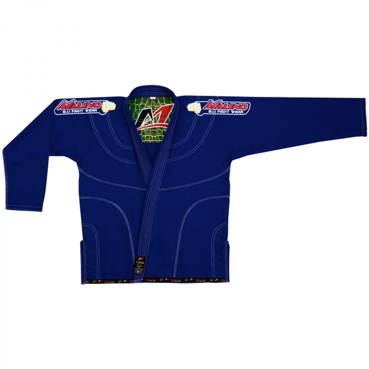 Malino BJJ Gi Crocodile Blue Pearl Weave Cotton 450Gsm