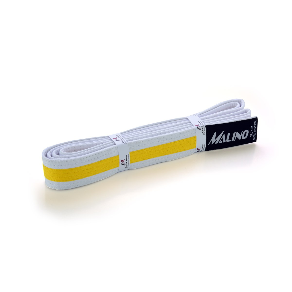 Colour Stripe Belt Cotton White-Yellow