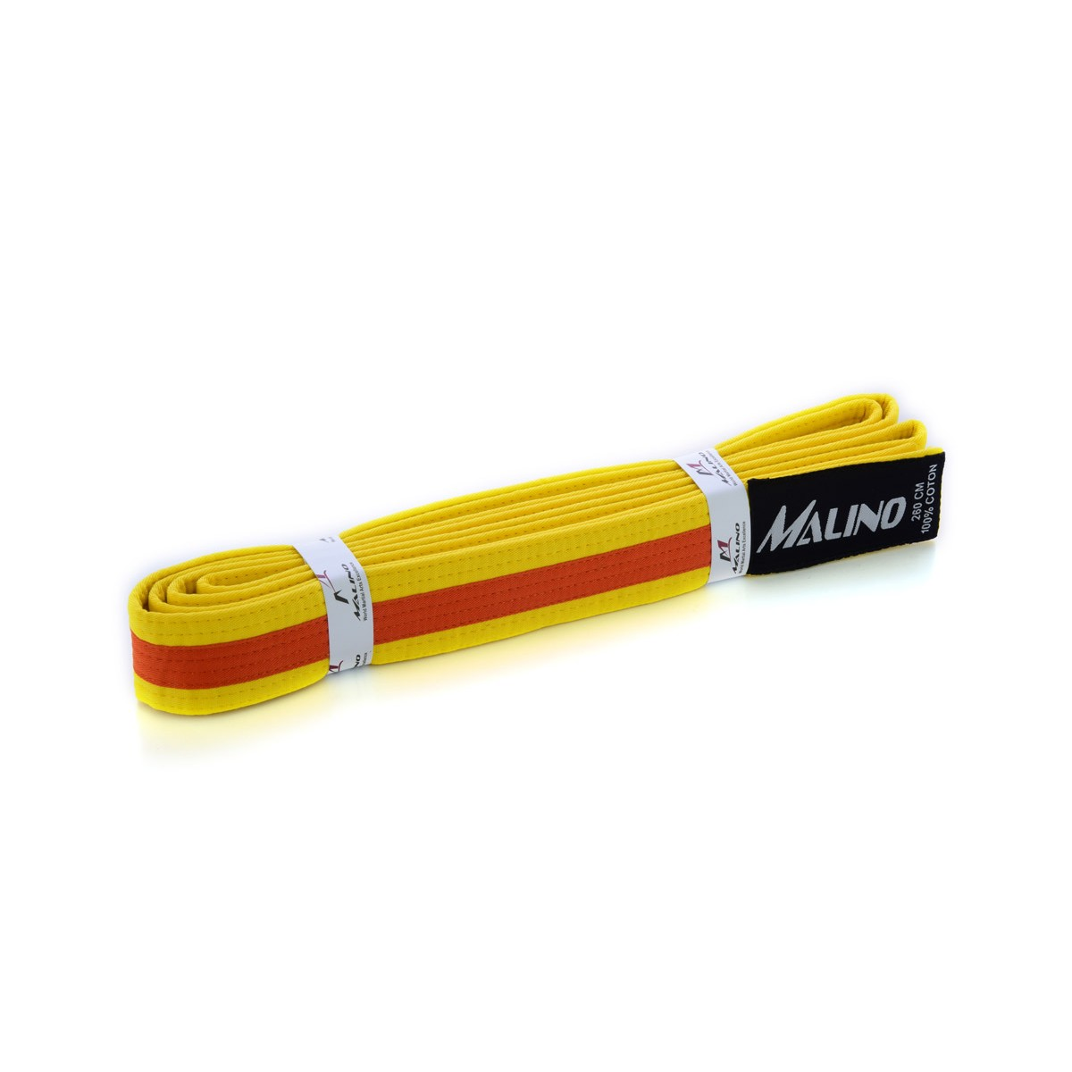 Colour Stripe Belt Cotton Yellow-Orange