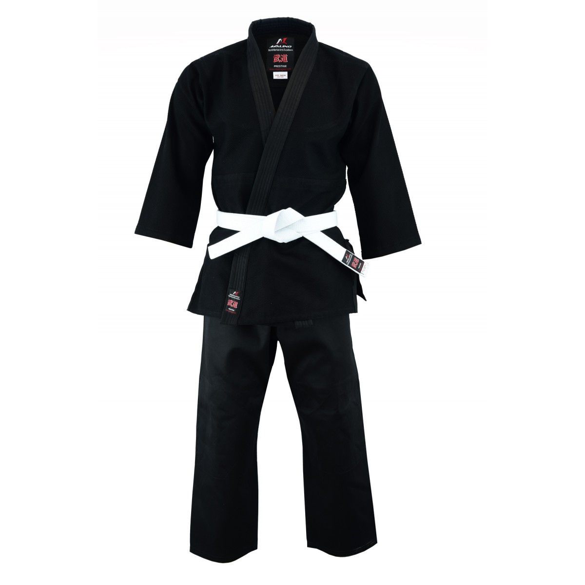Malino Kids Middleweight Judo Suit Black - 450g