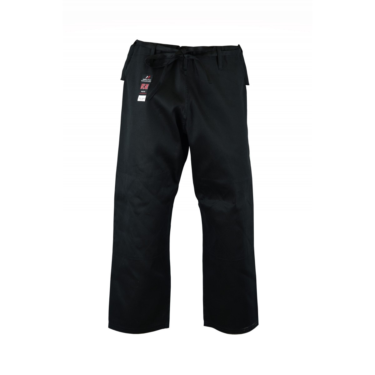 Kids Student Judo Trousers Lightweight Cotton Black - 7oz