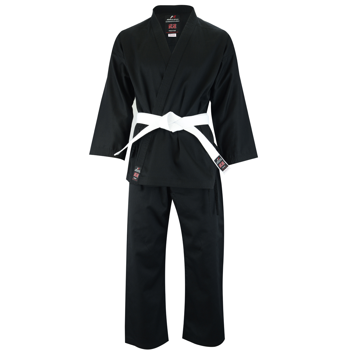 Malino Kids Student Karate Suit Black - 7oz