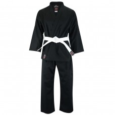 Malino Adult Student Karate Suit Black - 7oz