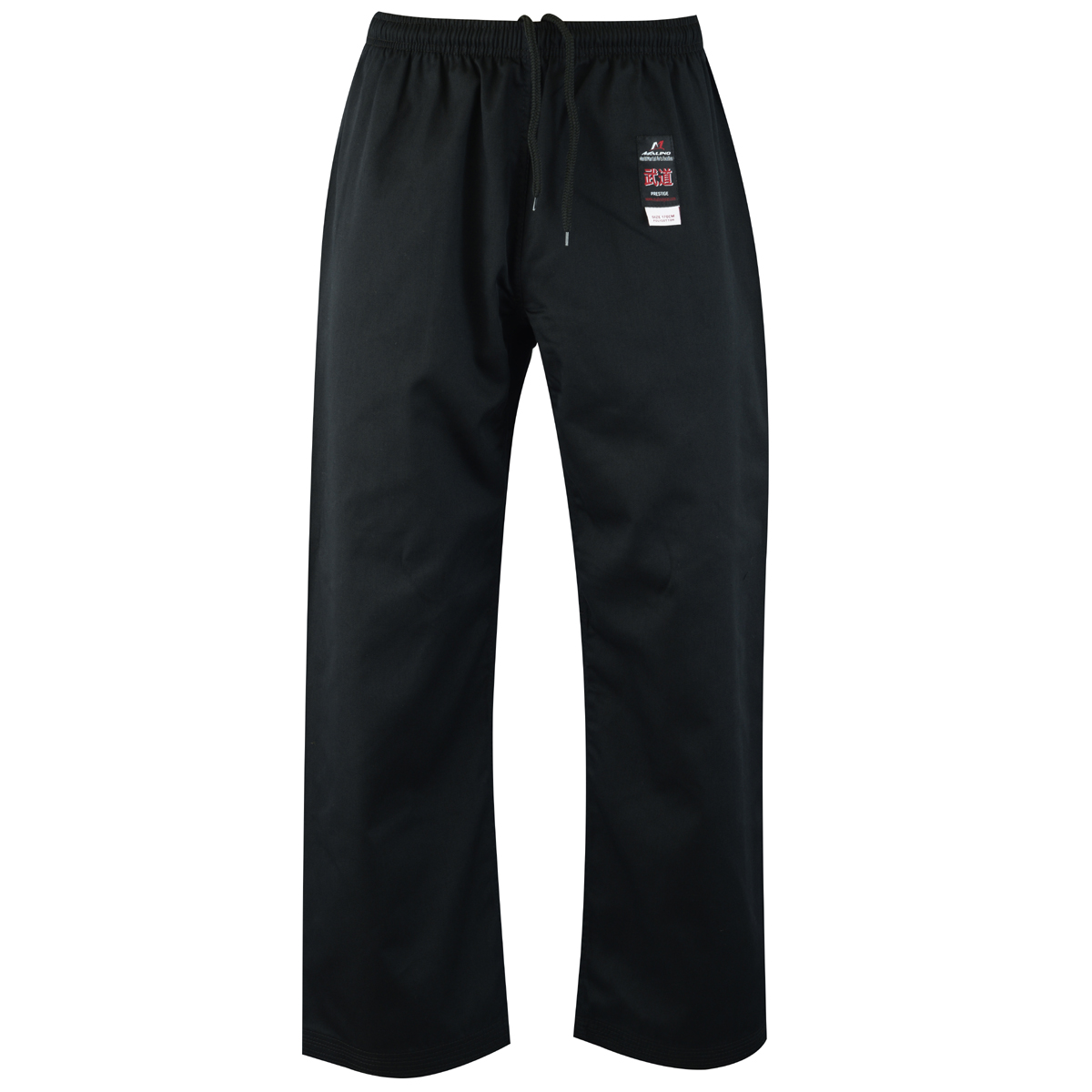 Malino Kids Student Karate Trousers Poly Cotton Black- 7oz