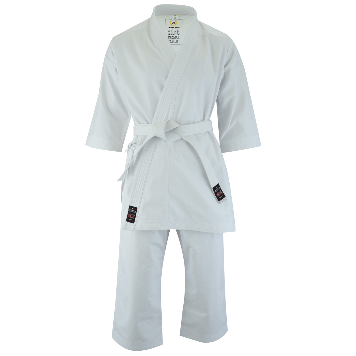 Premium Samito Karate Suit Adult White - 10oz
