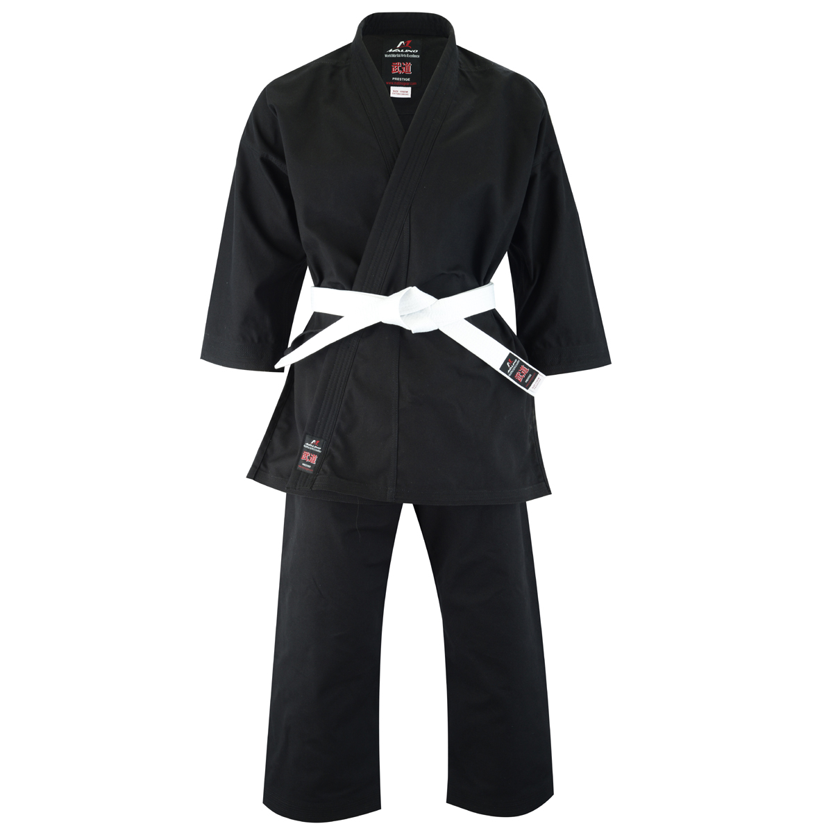 Malino Professional Kids Karate Suit - 14oz Reactive Black