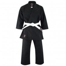 Malino Professional Black Adult Karate Suit - 14oz Reactive Black