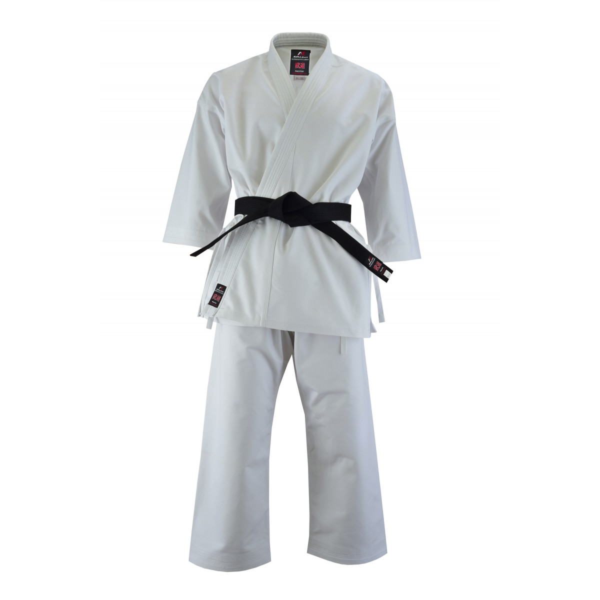 Malino Professional Kids Karate Suit White One side peach - 14oz